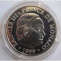 Монако, 100 франков, 1999, серебро