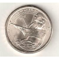 США доллар 2014 Сакагавея Гостеприимство индейцев двор D