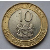 Кения 10 шиллингов, 1997 г.