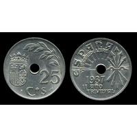 G ИСПАНИЯ  25 сентимо 1937 г.