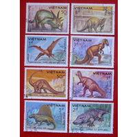 Вьетнам. Доисторические животные ( 8 марок ) 1984 года.