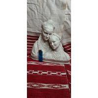 Две Девушки в кокошниках Большая статуэтка СССР
