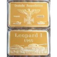 Слиток Танк Леопард 1 Рейх 1965 позолота
