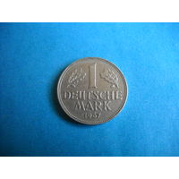 ФРГ 1 марка 1967 г. (D)