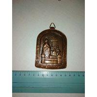 Плакетка- медальон - иконка Московский свято-Данилов монастырь в память 1000летия крещения Руси. 1988 год