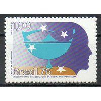 Искусство Бразилия 1976 год чистая серия из 1 марки