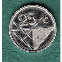 Аруба 25 центов 2018 год