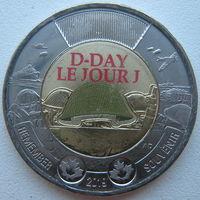 Канада 2 доллара 2019 г. 75 лет высадке союзников в Нормандии