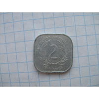 Вост.карибские штаты 2 цента 1995г.