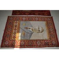 Ранний портрет на шерстяном ковре  дорогого Леонида Ильича-ранний-ещё  только 3 звезды. и не говорите.что часто встречается.