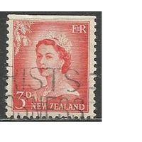 Новая Зеландия. Королева Елизавета II. 1955г. Mi#357.