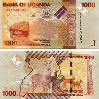 Уганда  1000 шиллингов 2013 год  UNC