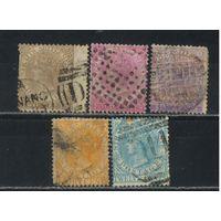 GB Колонии Малайя Стрейтс Сетлментс 1867 V Стандарт #10-14