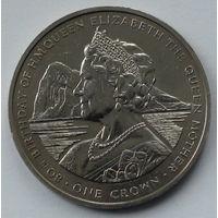 Гибралтар. 1 крона. 80 лет со дня рождения Королевы Матери. 1980
