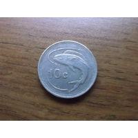 Мальта 10 центов 1986