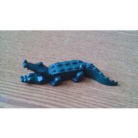 Minifigures Lego Animal: Alligator / crocodile (dark green). Минифигурка Лего животные:  Аллигатор / крокодил (темно-зеленый).