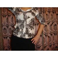Красивая Блуза блузка кофточка р-р 46