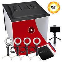 Лайтбокс Travor K60II светодиодный складной световой короб для фотосъемки CRI 95 3200K 5500K 9000K