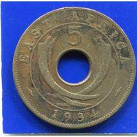 Британская Восточная Африка 5 центов 1934