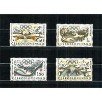 Спорт 1968 г. Чехословакия Олимпиада в Гренобле серия MNH (СЛ)