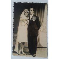 Старинное свадебное фото. 8.5х13 см