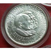 США 1/2 доллара 1951. Дж.В. Карвер и Б.Т. Вашингтон. Нечастая