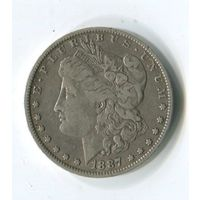Морган доллар 1887 о.