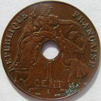Фр. Индокитай 1 сантим 1938 А