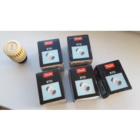 Термостатические головки, б/у, 5 штук (термоголовка, головка радиаторного терморегулятора) RTD 3640 013L3640, Danfoss, Дания - в отличном состоянии, полностью рабочие - ЦЕНА ЗА ВСЕ 5 ШТУК!!!