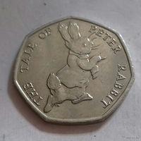 50 пенсов, Великобритания 2017 г., кролик Петя