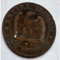 Франция 5 сантимов, 1854 K - Бордо 2-6-4