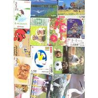 Карточки Японские тонкий пластик  125штук
