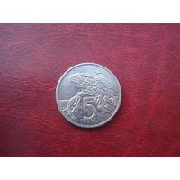 5 центов 1989 год Новая Зеландия