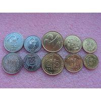 Западная Африка (КФА) набор 5 монет UNC