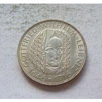 Германия 5 марок 1966 250 лет со дня смерти Готфрида Вильгельма Лейбница