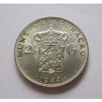 Кюрасао 2 1/2 гульдена 1944 - серебро, один год чекана