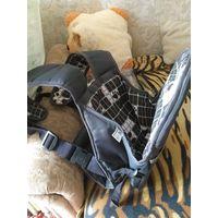 Рюкзак-кенгуру черно-белого цвета, классика, РП