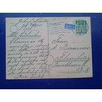 Германия 1951 маркированная ПК, Англо-американская зона оккупации