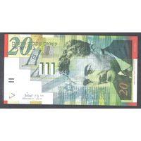 Израиль бумажные 20 шекелей 2001 UNC