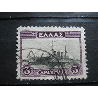 Транспорт, корабли, военный флот, Греция марка
