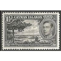 Кайманы. Король Георг VI. Вид на пляж. 1938г. Mi#104.