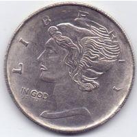 США,  1 доллар (унция). Посеребрённая КОПИЯ.