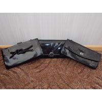 Клатч лакированный, женская сумочка винтаж, ретро