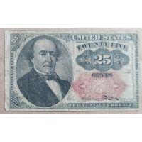 25 центов 1874 года - США - очень редкая!