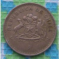 Чили 100 песо 1994 года. Симон Боливар. AU. Подписывайтесь! Много новых лотов в продаже!!!