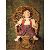 Кресло плетёное для кукол 42 см  седушка 16 см