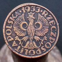 2 гроша 1933 ПОЛЬША - не частый год !!!