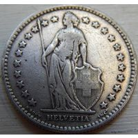13. Швейцария 2 франка 1914 год, серебро