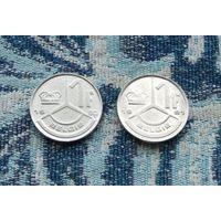 Бельгия 1 франк 1990  и 1991 гг.