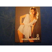 Календарик 1989 Словацкий текстиль
